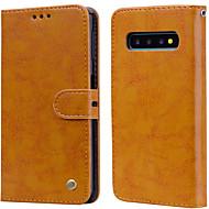 povoljno -Θήκη Za Samsung Galaxy Galaxy S10 Plus Utor za kartice / Zaokret Korice Jednobojni Tvrdo PU koža za Galaxy S10 Plus