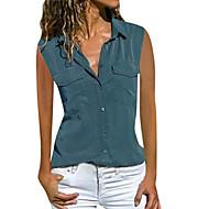 billige -Skjorte Dame - Ensfarget Vin US14 / UK18 / EU46