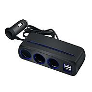 povoljno -adapter za upaljač za cigarete više portova usb auto punjač upaljač razdjelnik modelspearl crna
