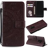 povoljno -Θήκη Za Samsung Galaxy S9 / S9 Plus / S8 Plus Utor za kartice / Otporno na trešnju / sa stalkom Korice Jednobojni PU koža