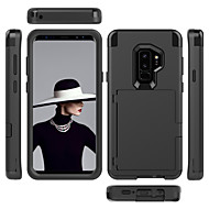 cheap -Case For Samsung Galaxy S9 / S9 Plus / S8 Plus Card Holder / Shockproof / Mirror Full Body Cases Solid Colored PC