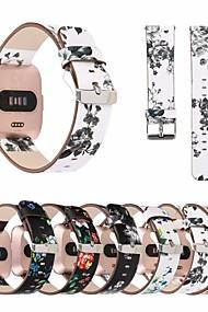 levne -Watch kapela pro Fitbit Versa Fitbit Kožená smyčka Pravá kůže Poutko na zápěstí