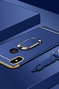cheap -Case For Apple iPhone XS / iPhone XS Max Plating / Ring Holder / Ultra-thin Back Cover Solid Colored Hard PC for iPhone XS / iPhone XR / iPhone XS Max