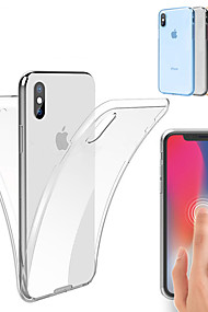 cheap -Case For Apple iPhone XS / iPhone XS Max Shockproof / Ultra-thin / Transparent Full Body Cases Solid Colored Soft TPU for iPhone XS / iPhone XR / iPhone XS Max
