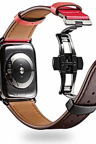 cheap -Watch Band for Apple Watch Series 4/3/2/1 Apple Butterfly Buckle Genuine Leather Wrist Strap
