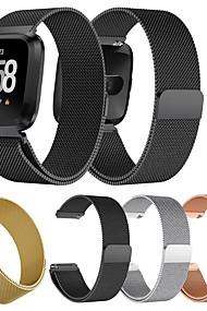 levne -Watch kapela pro Fitbit Versa / Fitbit Versa Lite Fitbit Milánská smyčka Kov / Nerez Poutko na zápěstí