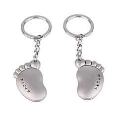 Edelstahl Liebhaber Schlüsselanhänger (linker Fuß & rechten Fuß / 2-teiliges Set)