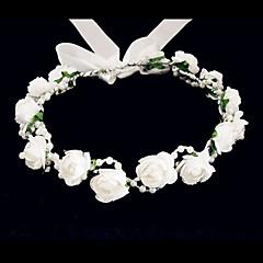 abordables Bijoux pour Femme-Cristal / Tissu / Mousse Diadèmes / Fleurs avec 1 Mariage / Occasion spéciale / Fête / Soirée Casque