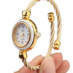 Damskie Modny Zegarek na bransoletce Kwarcowy Stop Pasmo Bransoletka-Kółko Elegancki Biały Gold White