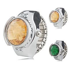 preiswerte Damenuhren-Damen Ringuhr Japanisch Quartz Armbanduhren für den Alltag Legierung Band Blume Silber - Gelb Grün Ein Jahr Batterielebensdauer / SSUO SR626SW