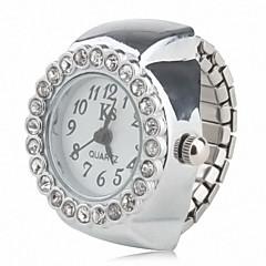 preiswerte Damenuhren-Damen Ringuhr Japanisch Quartz Armbanduhren für den Alltag Legierung Band Analog Glanz Modisch Silber
