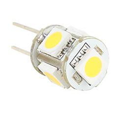 g4 5 SMD LED 50lm quente branco lâmpada 12v (2 pcs)