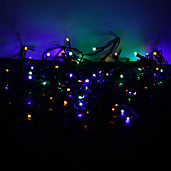 10m 100-ledede farverige lys 8-mode førte fairy string lampe til jul (220V)