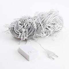 baratos Fitas e Mangueiras de LED-Luz branca de 30 m 300 led 8 modos cintilantes levou lâmpada de corda de fadas para (220v)
