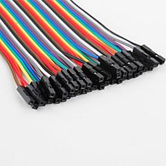 Vrouwtje naar mannetje Breadboard kabels voor elektronica DHZ'en (22cm)
