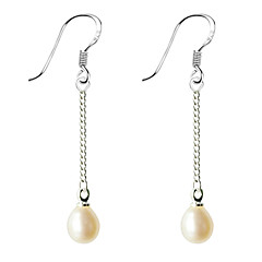 preiswerte Ohrringe-Damen Perle Tropfen-Ohrringe - Perle damas Schmuck Weiß / Purpur Für 1pc