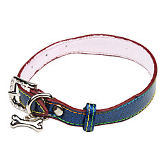 お買い得  犬用首輪/リード/ハーネス-犬 カラー PUレザー グリーン / ブルー