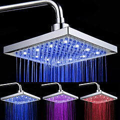 cheap LED Shower Heads-Contemporary Rain Shower Chrome Feature - LED Light, Shower Head