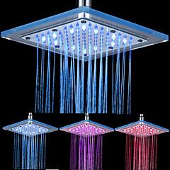 abordables LED e Iluminación-8-pulgadas de 12-LED de techo de acrílico Square Shower Head (colores surtidos)