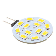 2w g4 led bi-broches lumières 12 smd 5630 240lm blanc chaud 2700k dc 12v