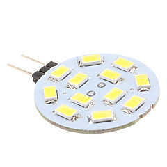 cheap LED Bulbs-170lm G4 LED Bi-pin Lights 12 LED Beads SMD 5630 Natural White 12V