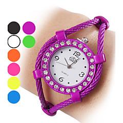 Dames Modieus horloge Armbandhorloge Kwarts Legering Band Glitter Bangle armband Zwart Wit Blauw Orange Groen Paars Geel rozePaars Geel