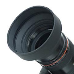 52mm Pare-soleil en caoutchouc pour grand angle, standard, téléobjectif