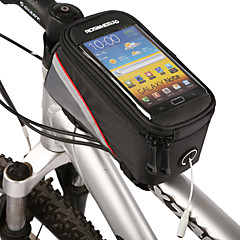ROSWHEEL Bike Frame Bag Cell Phone Bag 4.2 inch Waterproof Zipper Water Bottle Pocket Dust Proof Touch Screen Phone/Iphone Cycling for