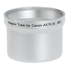 52mm Lens and Filter Adaptor Tube for Canon A570 IS B52 Silver