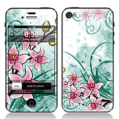 Elegant Flower and Design Przód Ekran Film Back Protector dla iPhone 4/4S