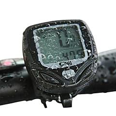 tanie Liczniki rowerowe-sunding budowlane plastikowe bezprzewodowy 15 funkcji wodoodporny cycling komputer 548c2 (czarne)