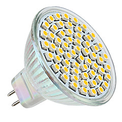 3w gu5.3 (MR16) LED-Strahler MR16 60 SMD 3528 250lm warmweiß 2800k DC 12V