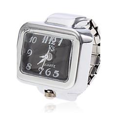 お買い得  レディース腕時計-女性用 リングウォッチ クォーツ カジュアルウォッチ 合金 バンド チャーム シルバー - ホワイト ブラック 1年間 電池寿命 / SSUO SR626SW