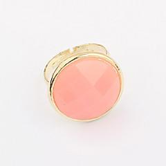 お買い得  指輪-女性用 バンドリング  -  合金 ファッション 調整可 ブラック / ブルー / ピンク 用途 日常