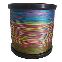 1000M / 1100 Yards PE Braided Line / Dyneema Siima Vihreä / Oranssi / Keltainen / Purppura / Fuksia / Punainen / Sininen / Värivailkoima
