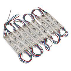 billige LED-Vandtæt 0.6W 5050SMD RGB Light LED-modul (DC 12V, 10stk)