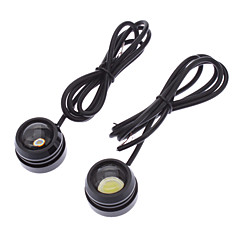 10W 800-900LM 2-Mode White Light Eagle Eye LED pære for bil kjørelys Lampe (12-24V, 1-Pair)