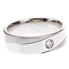preiswerte Ringe-Herrn Damen Bandring - Titanstahl Simple Style Eine Größe Für Party