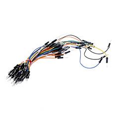 cheap Connectors & Terminals-Electronic DIY 65pcs Breadboard Jumper Cable Wires - Multicolor