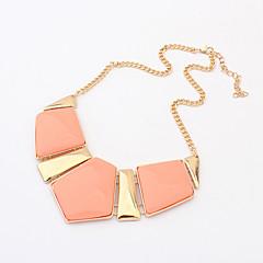 preiswerte Halsketten-Damen Geometrisch Halsketten - Luxus, Europäisch, Modisch Grün, Blau, Rosa Modische Halsketten Schmuck Für Party