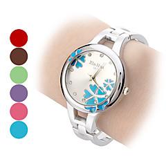 Dame Modeur Armbåndsur Quartz Bånd Blomst Armring Sølv