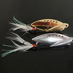 New Pesca Projetado 3-Ganchos com forma de peixe de metal Lure (10g, 14g, 22g, Cor Ramdon)