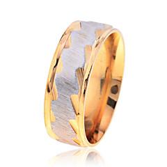 Gyűrűk Parti / Napi / Hétköznapi Ékszerek Rozsdamentes acél Férfi Karikagyűrűk 1db,7