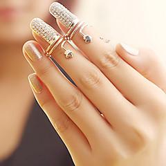 preiswerte Ringe-Damen Nagel Fingerring - Strass, Aleación Blume damas, Modisch Schmuck Silber / Golden Für Party Alltag 6 / 7