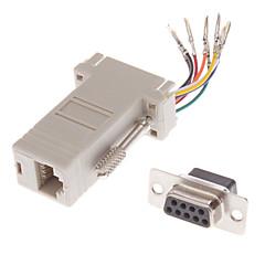 preiswerte Kabel & Adapter-DB9-Buchse auf RJ-45 Buchse Modular-Adapter Weiß