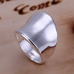 Women's Band Rings Costume Jewelry Silver Plated Alloy Jewelry For Daily