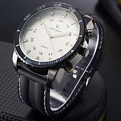 V6 Heren Sporthorloge Militair horloge Modieus horloge Polshorloge Kwarts Japanse quartz Grote wijzerplaat Silicone Band Cool Zwart
