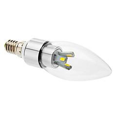 cheap LED Bulbs-3W E14 LED Candle Lights 6 SMD 5630 300 lm Warm White AC 85-265 V