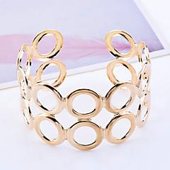 Bărbați Brățări Bantă Design Unic La modă Gol costum de bijuterii Placat Auriu Circle Shape Bijuterii Bijuterii Pentru Petrecere Zilnic