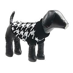 Psy Swetry Black Ubrania dla psów Zima Wiosna/jesień Pled / w kratkę Modny